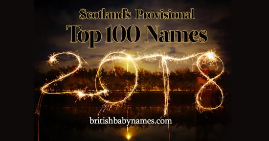 Top 100 Names Scotland 2018 Provisional