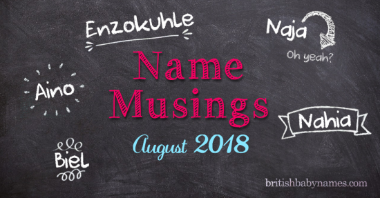 Name Musings August