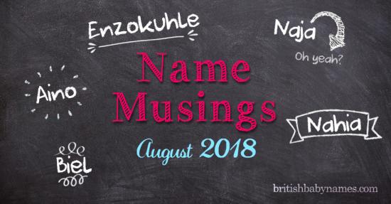 Name Musings August