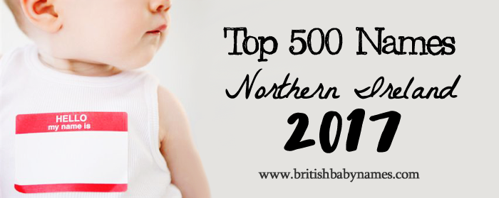 Top 500 Names Northern Ireland 2017