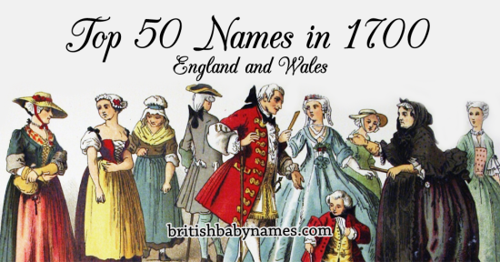 Top 50 Names in 1700