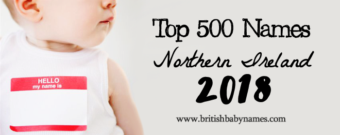 Top 500 Names Northern Ireland 2018
