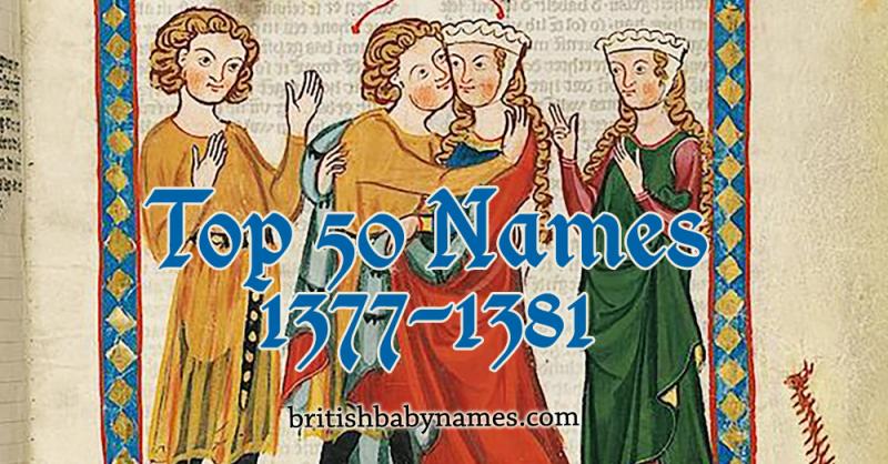 Top 50 Names 1377-1381