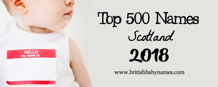 Top 500 Names Scotland 2018