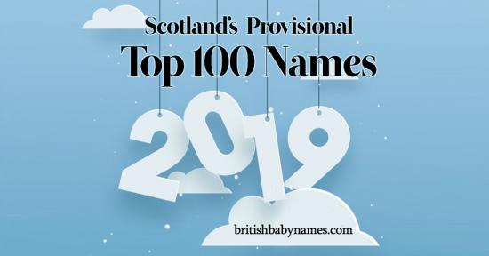 Top 100 Names Scotland 2019 Provisional