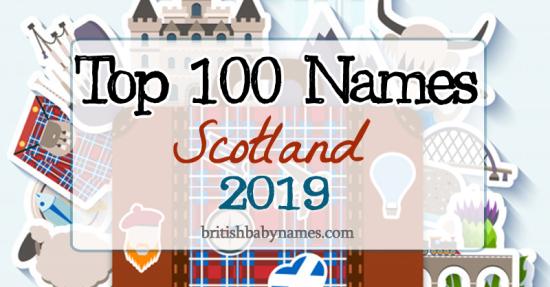 Top 100 Names Scotland 2019