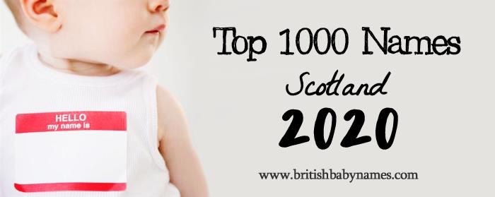 Top 1000 Names Scotland 2020