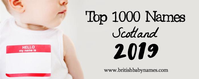 Top 1000 Names Scotland 2019