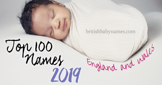 Top 100 Names England and Wales 2019