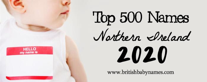 Top 500 Names Northern Ireland 2020