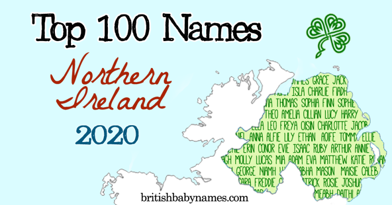 Top 100 Names Northern Ireland 2020